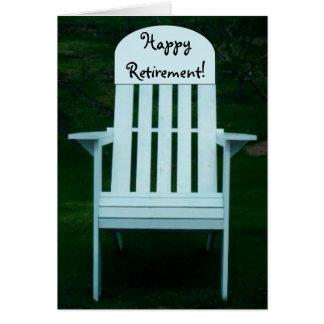 Carte heureuse de chaise de retraite