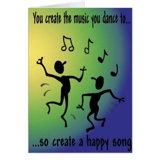 Carte heureuse de chanson