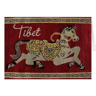 Carte heureuse de cheval du Thibet