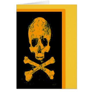 Carte heureuse de crâne de Halloween