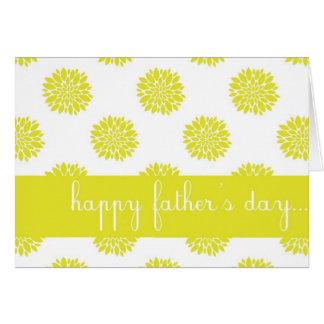 Carte heureuse de fête des pères de chrysanthème