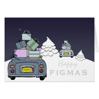 Carte heureuse de Figaro Figmas d'Aqua pâle gris