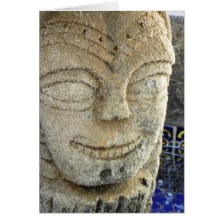 Carte heureuse de fontaine de visage (v)