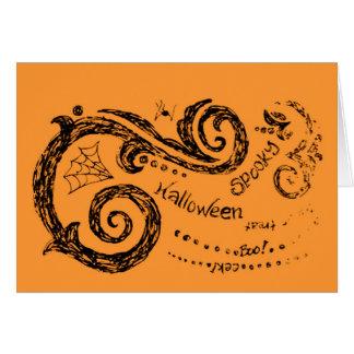 Carte heureuse de Halloween