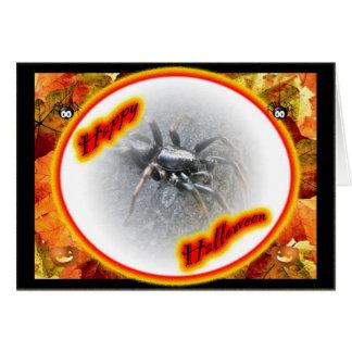 Carte heureuse de Halloween d'araignée de