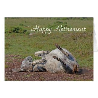 Carte heureuse de retraite d'âne