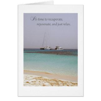 Carte heureuse de retraite de plage