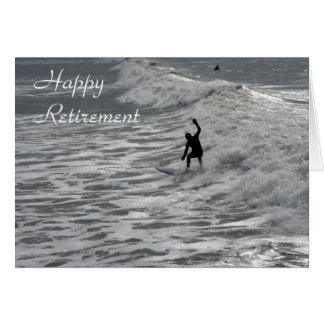 Carte heureuse de retraite de surfer