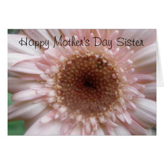 Carte heureuse de soeur du jour de mère