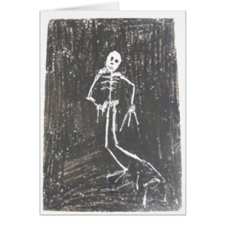 Carte heureuse de squelette de Halloween