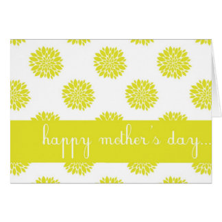 Carte heureuse du jour de mère de chrysanthème