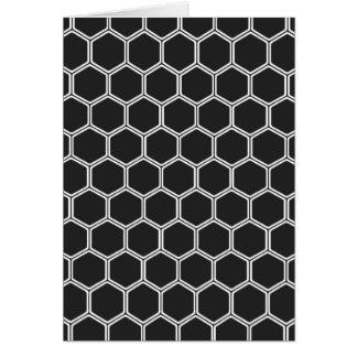 Carte Hexagone noir cosmique 1