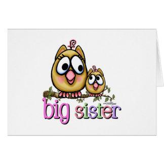Carte Hiboux de petite soeur de grande soeur