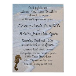 Carte Hippocampe de mariage de plage
