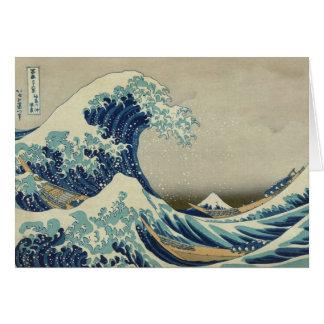 Carte Hokusai : Grande vague outre de Kanagawa