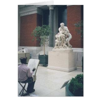 Carte Homme dans le musée
