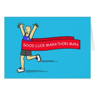 Carte Homme de marathon de bonne chance