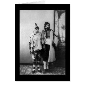 Carte Homme et épouse juifs tunisiens à Tunis 1920