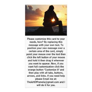 Carte Homme romantique au coucher du soleil