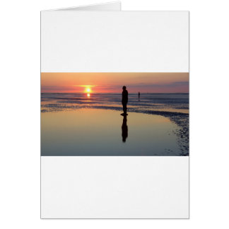 Carte Hommes de fer au coucher du soleil, Crosby,