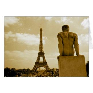 Carte Homosexuel de Tour Eiffel d'anniversaire