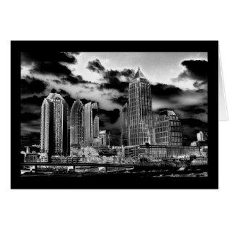 Carte Horizon d'Atlanta, la Géorgie en noir et blanc