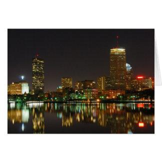 Carte Horizon de Boston la nuit