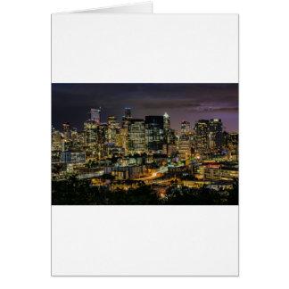 Carte Horizon de Seattle la nuit