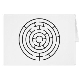 Carte horizontale de labyrinthe de coeur