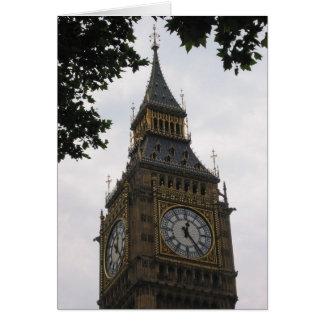 Carte horloge de grand Ben