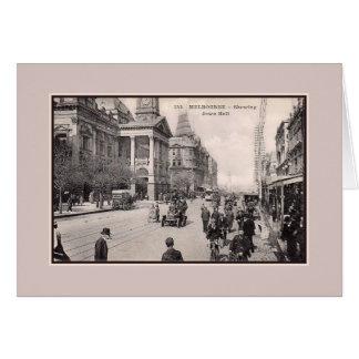 Carte Hôtel de ville vintage de Melbourne des années