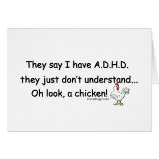 Carte Humour de poulet de TDAH