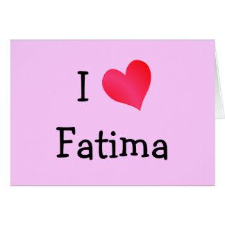 Carte I coeur Fatima