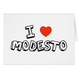 Carte I coeur Modesto