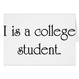 Carte I est un étudiant universitaire