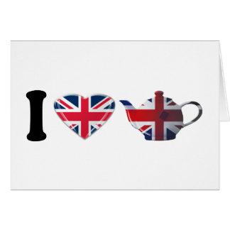 Carte I thé anglais de coeur, art patriotique