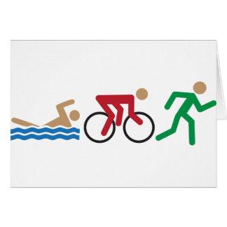 Carte Icônes de logo de triathlon en couleurs