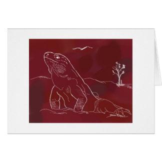 Carte Iguane, croquis, rouille,