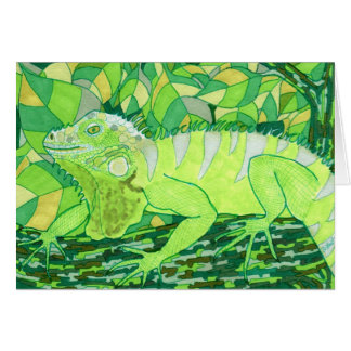 Carte Iguane exotique