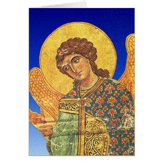 Carte Ikon orthodoxe vintage, ange Gabriel