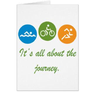 Carte Il est tout au sujet du voyage - triathlon