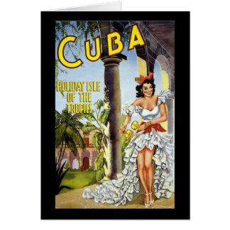 Carte Île de vacances du Cuba des tropiques