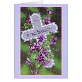 Carte Illustration de cru de salutations de Pâques