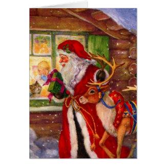 Carte Illustration du père noël - illustrations de Noël