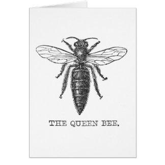 Carte Illustration vintage de reine des abeilles