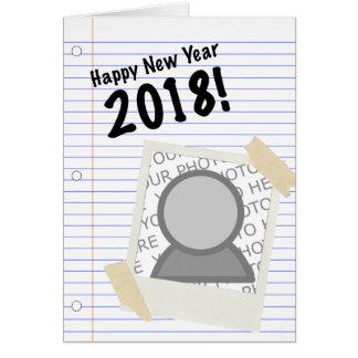 Carte Image 2018 de carnet de bonne année