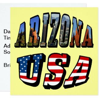 Carte Image de l'Arizona et texte de drapeau des