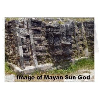 Carte Image d'un dieu soleil maya, Belize