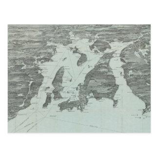 Carte imagée vintage de la baie de Narragansett Cartes Postales