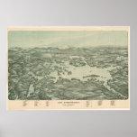 Carte imagée vintage de lac Winnipesaukee (1903)